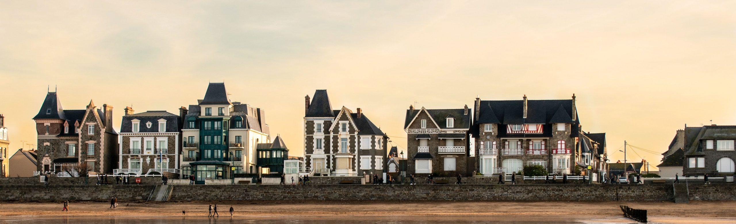 Maisons Saint Malo coucher du soleil