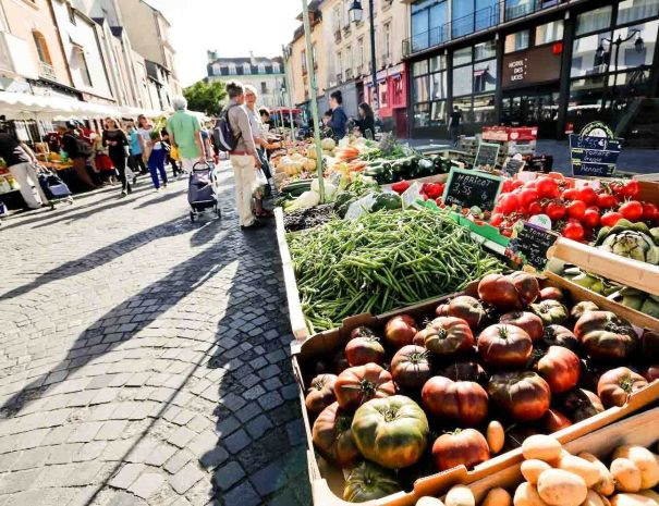 Lices market in Rennes for city breaks