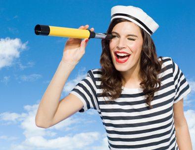 femme en marinière