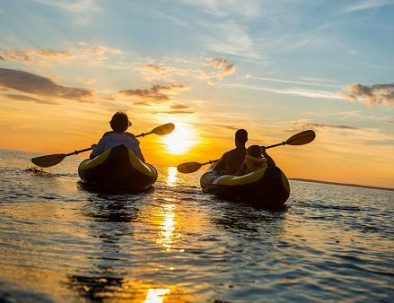 Teambuilding kayak