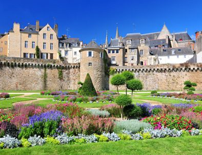 ramparts and formal gardens in Vannes