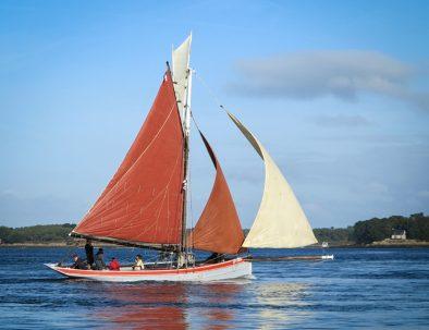 voilier traditionnel dans le golfe du Morbihan