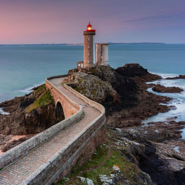 Trip on the lighthouse route in Northern Brittany and visit of the Petit Minou Lighthouse in Plouzané