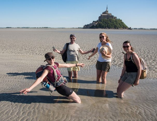 Group excursion in the bay of Mont Saint-Michel