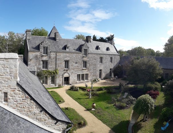 Visit of the manor of Concarneau in Finistere in southern Brittany