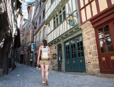 Main street in the Mont Saint Michel