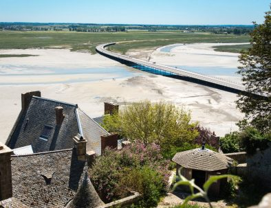 The bay seen from the ramparts of Mont St Michel