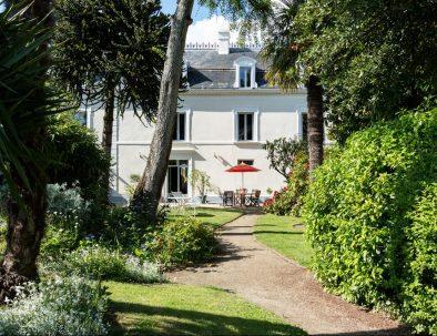 Garden of the Villa Saint-Raphael in Saint-Malo