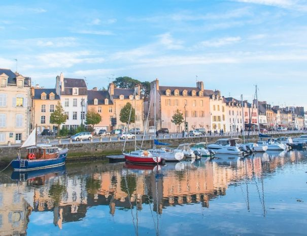Marina in Vannes in the Gulf of Morbihan in Southern Brittany