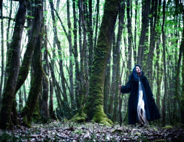 Fairy Morgane in the forest of Broceliande