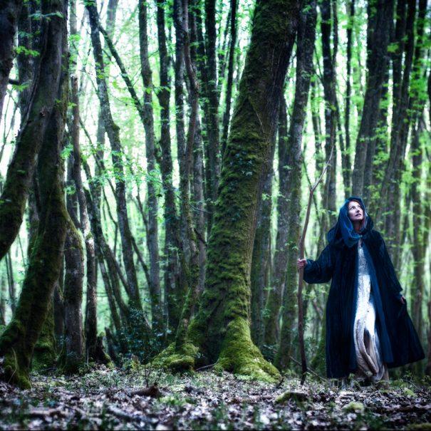 Fée Morgane dans la forêt de Brocéliande