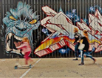 Street art walls in Rennes