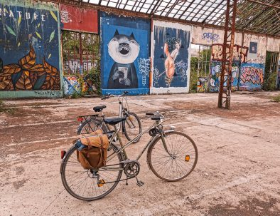 Bike ride in Rennes and discovery of street art