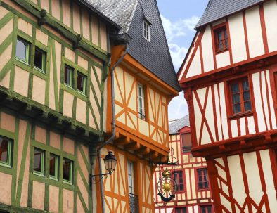 Visit of Vannes and its colorful half-timbered houses