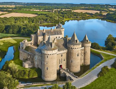 Visit of the castle of Suscinio in Brittany in France