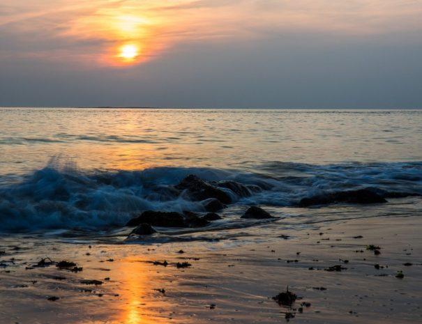 plage sainte marguerite au coucher du soleil